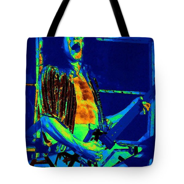 Rock 'n' Roll The Cosmic Blues Tote Bag by Ben Upham