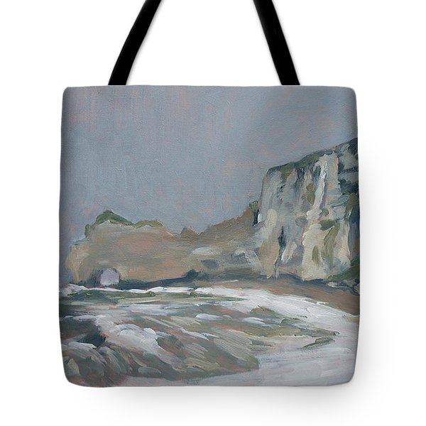 Rock Of Amont Etretat After The Rain Tote Bag