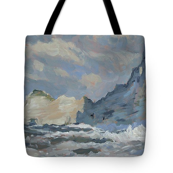 Rock Of Amont Etretat Tote Bag