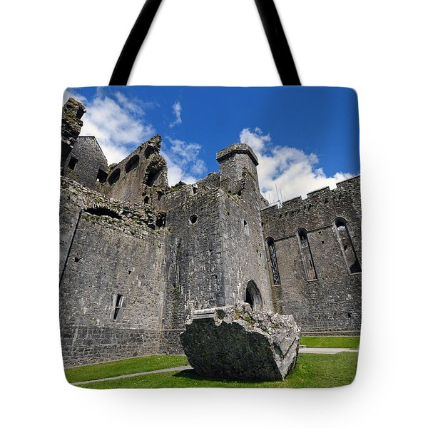Rock Of Cashel Tote Bag by Cindy Murphy - NightVisions