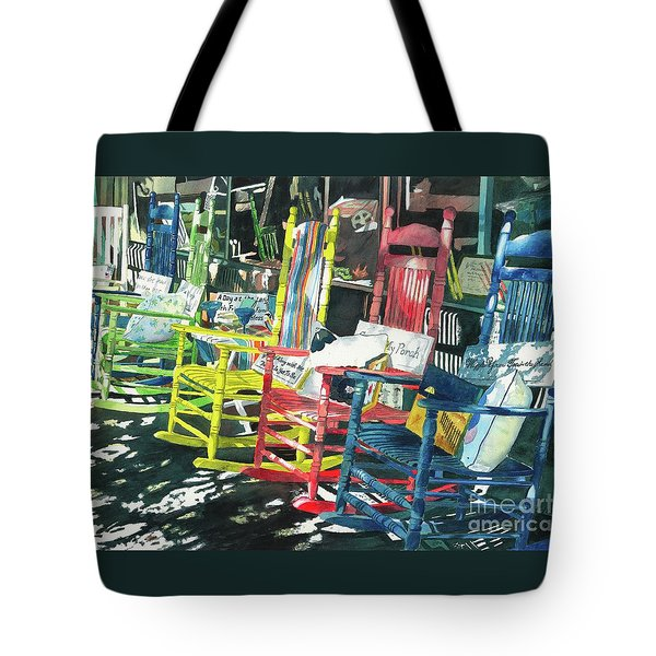 Tote Bag featuring the painting Rock On by LeAnne Sowa