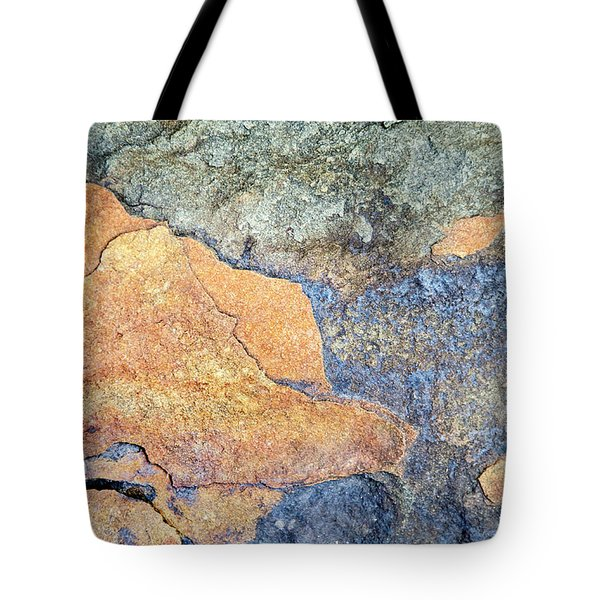 Tote Bag featuring the photograph Rock Pattern by Christina Rollo