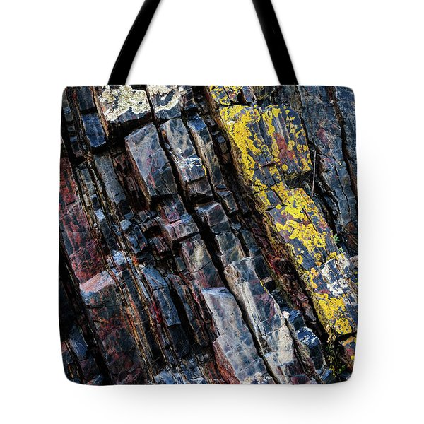 Tote Bag featuring the photograph Rock Pattern Sc02 by Werner Padarin