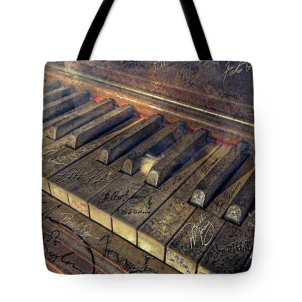 Rock Piano Fantasy Tote Bag