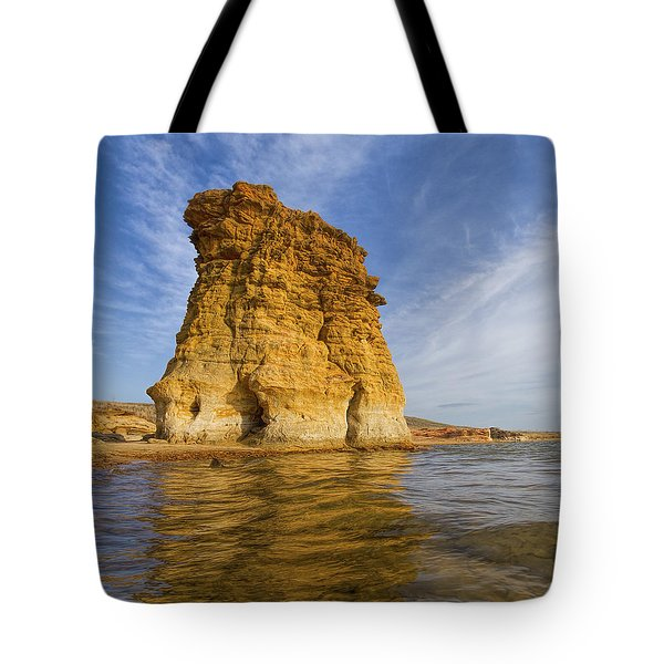 Tote Bag featuring the photograph Rock Pillar At Wilson Lake by Rob Graham