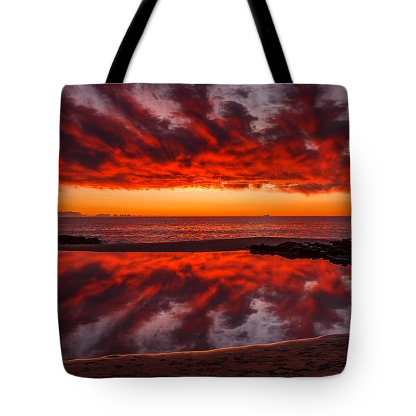 Rock Pool Reflections Tote Bag