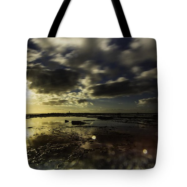 Rock Pool Sunrise Tote Bag