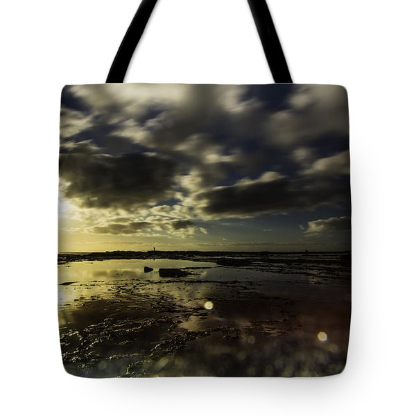 Rock Pool Sunrise Tote Bag
