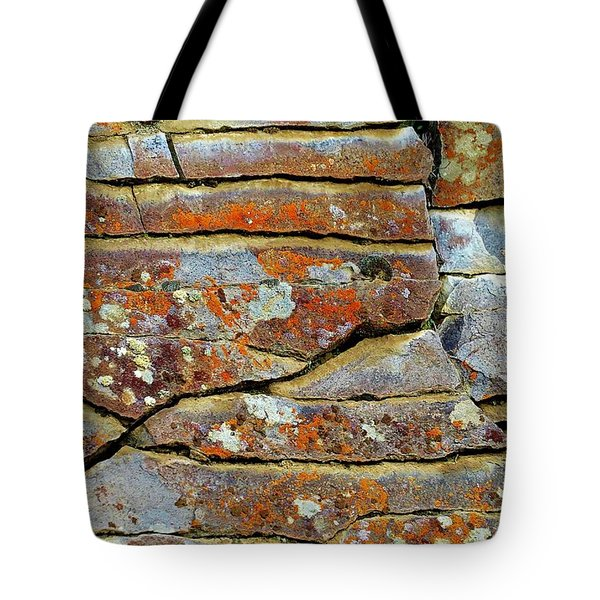 Tote Bag featuring the photograph Rock Puzzle by Michele Penner
