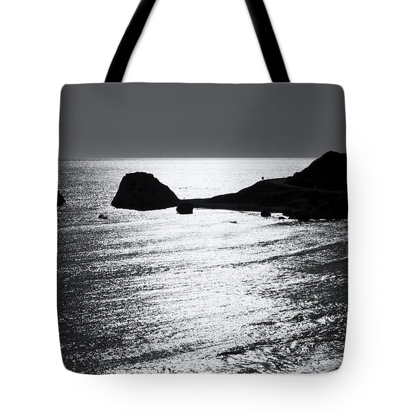 Rock Silhouette Tote Bag by Mike Santis
