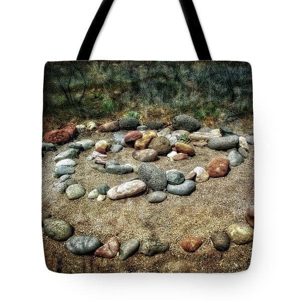 Rock Spiral At Buddha Beach - Sedona Tote Bag