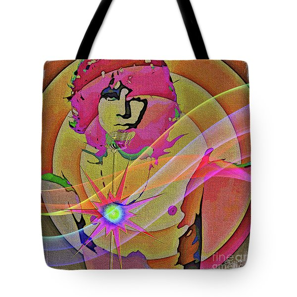 Tote Bag featuring the digital art Rock Star by Eleni Mac Synodinos