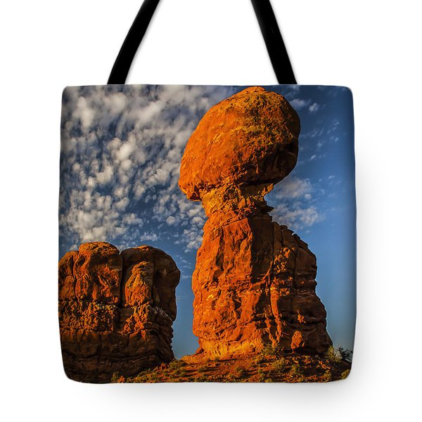 Rock, Sun, Cloud, And Sky Tote Bag