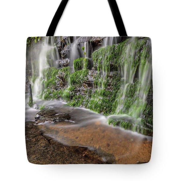Rock Wall Waterfall Tote Bag
