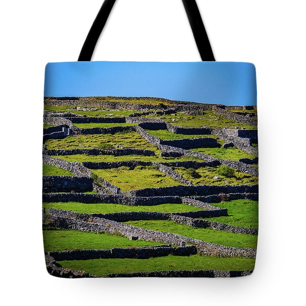 Tote Bag featuring the photograph Rock Walls Of Inisheer, Aran Islands by James Truett