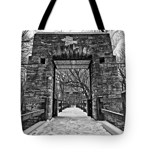 Rock Wood Steel Tote Bag