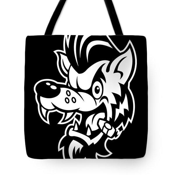 Rockabilly Wolf Head Tote Bag