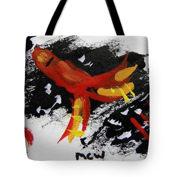 Rocket Man Tote Bag by Mary Carol Williams