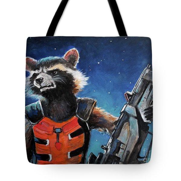 Rocket Tote Bag by Tom Carlton