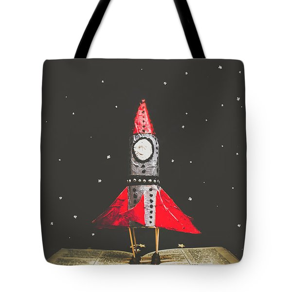 Rockets And Cartoon Puzzle Star Dust Tote Bag