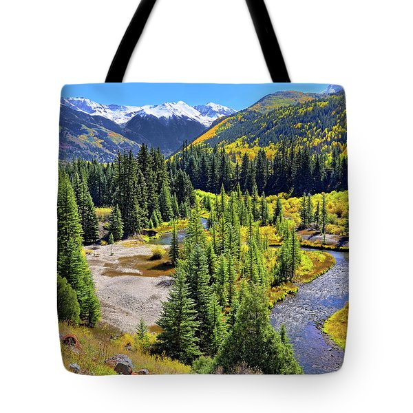 Rockies And Aspens - Colorful Colorado - Telluride Tote Bag by Jason Politte
