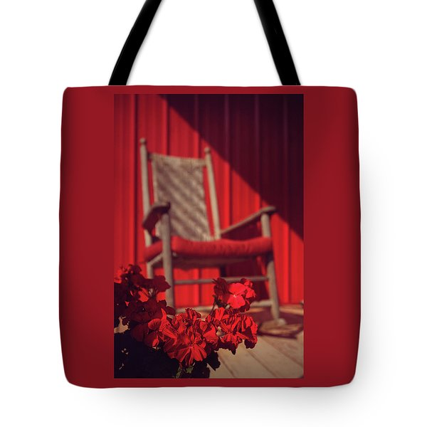 Tote Bag featuring the photograph Rockin' Red by Jessica Brawley