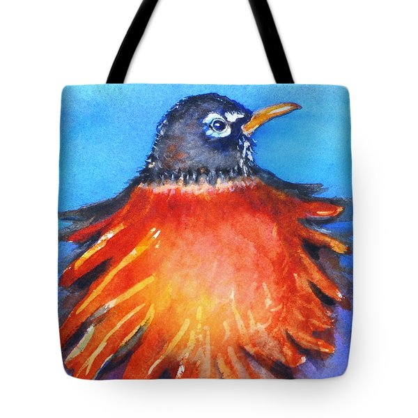 Tote Bag featuring the painting Rockin Robin by Patricia Piffath