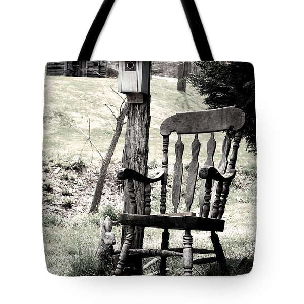 Rocking Chair Tote Bag by Gray  Artus