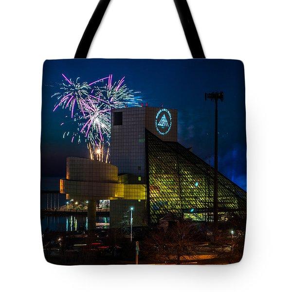 Rocking Fireworks Tote Bag