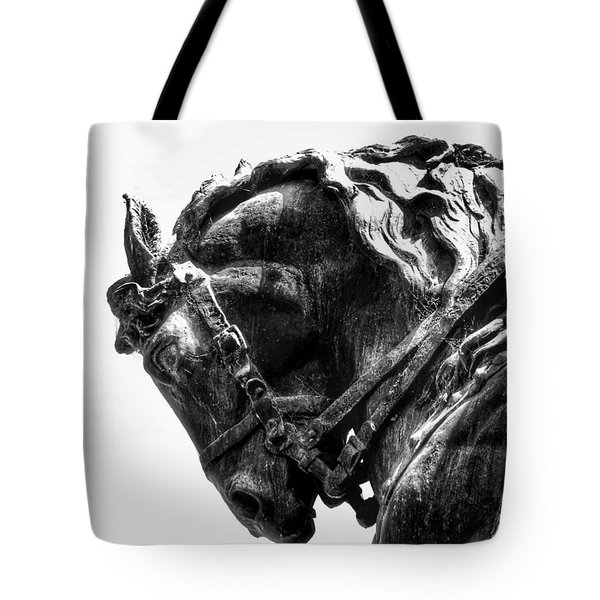 Tote Bag featuring the photograph Rocking Horse by AJ Schibig