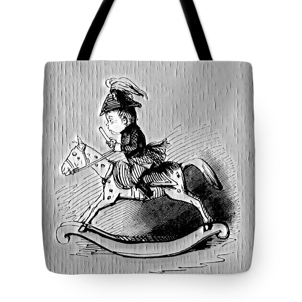 Tote Bag featuring the digital art Rocking Horse by Pennie McCracken