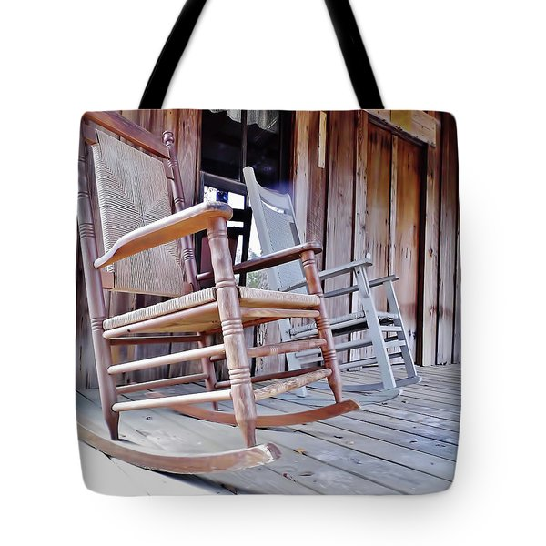 Rocking On The Front Porch Tote Bag