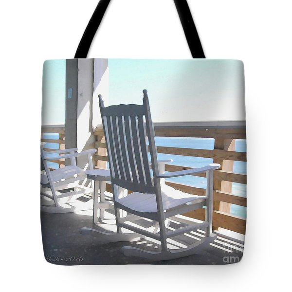 Tote Bag featuring the photograph Rocking Waves 01 by Linda Mesibov