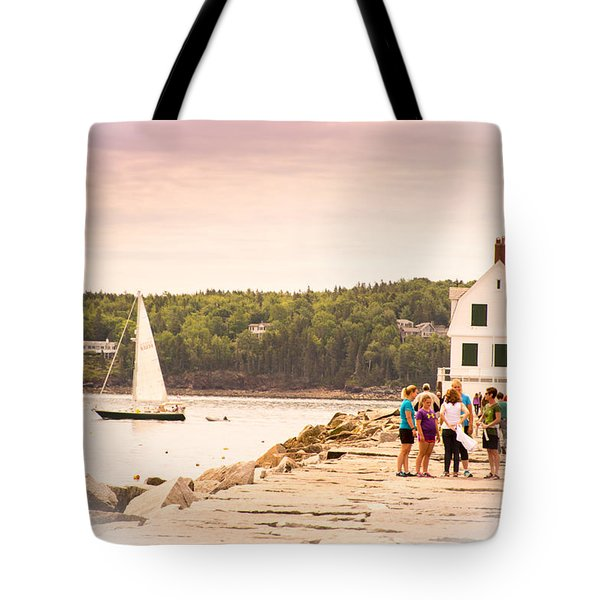 Tote Bag featuring the photograph Rockland Breakwater by Paul Miller