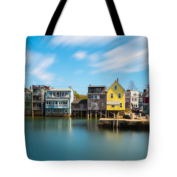 Tote Bag featuring the photograph Rockport Dock by Brian Hale