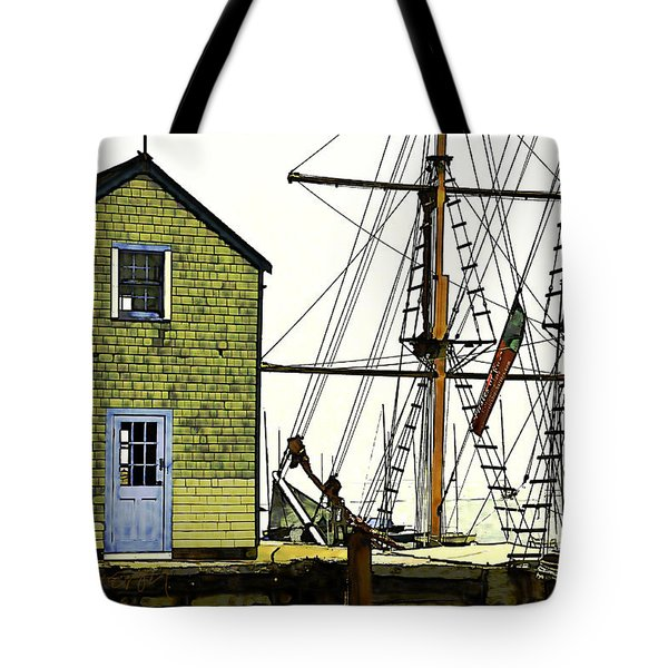 Rockport Harbor Tote Bag by Tom Cameron