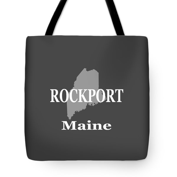 Tote Bag featuring the photograph Rockport Maine State City And Town Pride  by Keith Webber Jr