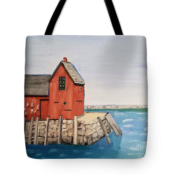 Rockport Motif In Winter Tote Bag