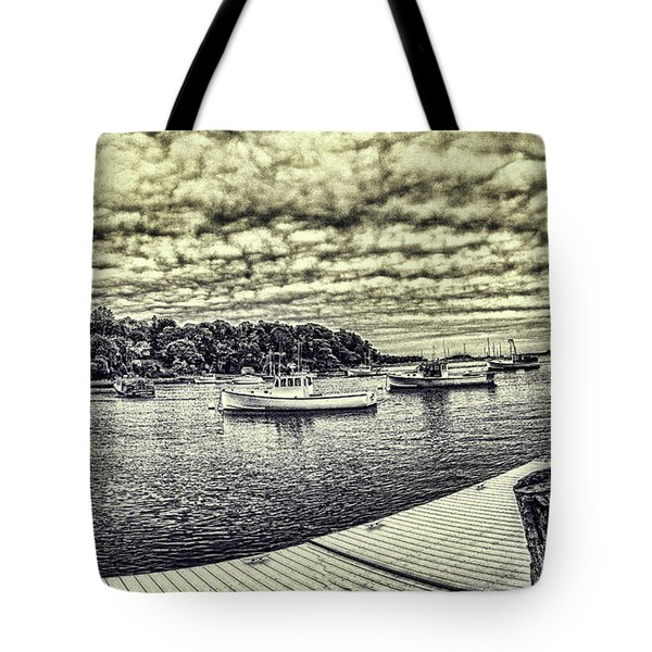 Rockport Outer- Harbor Tote Bag by Daniel Hebard