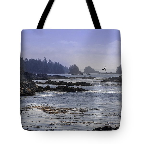 Rocks And Moon And Water Tote Bag