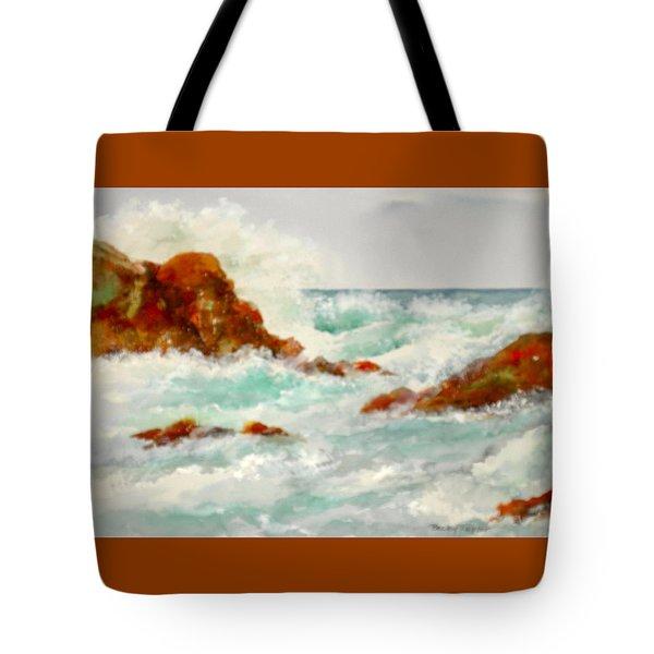 Rocks And Ocean Tote Bag