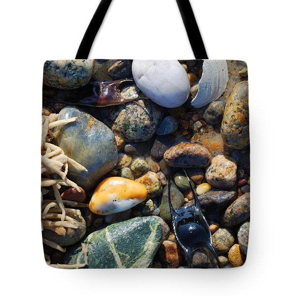 Rocks And Shells Tote Bag by Charles Harden