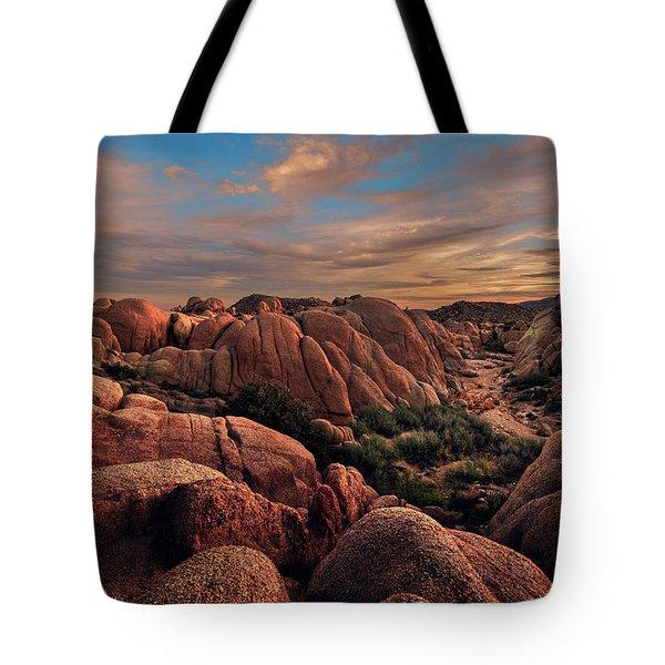 Rocks At Sunrise Tote Bag