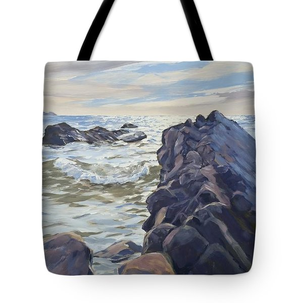 Rocks At Widemouth Bay, Cornwall Tote Bag