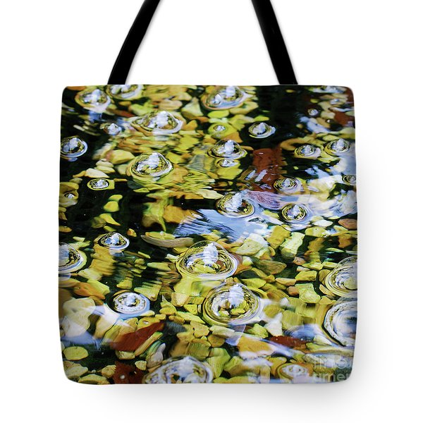 Rocks Bubbles And Water Tote Bag