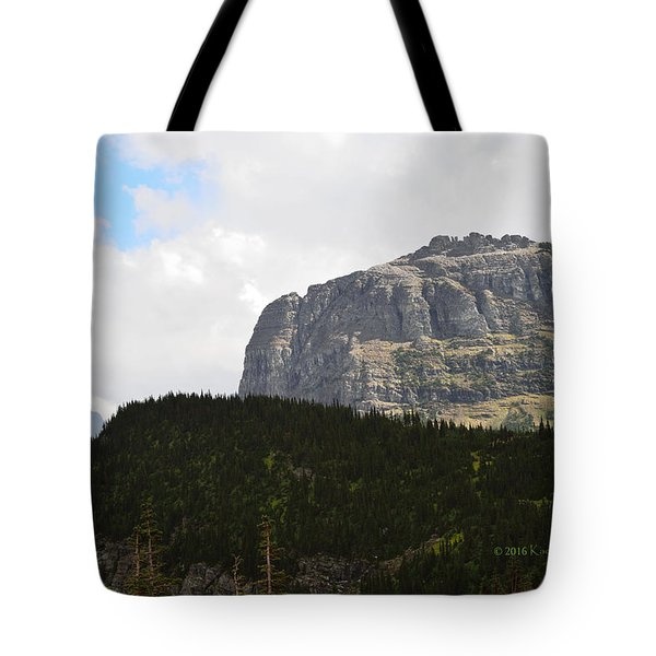 Tote Bag featuring the photograph Rocks Clouds And Trees by Kae Cheatham