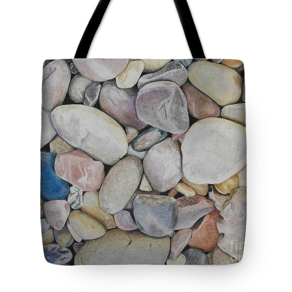 Beach Rocks, Mexico Tote Bag
