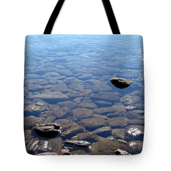 Rocks In Calm Waters Tote Bag