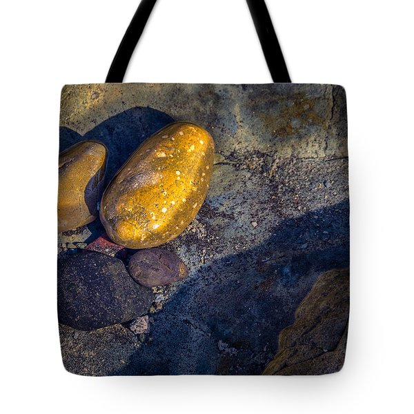 Tote Bag featuring the photograph Rocks In Tidepool by Randy Bayne