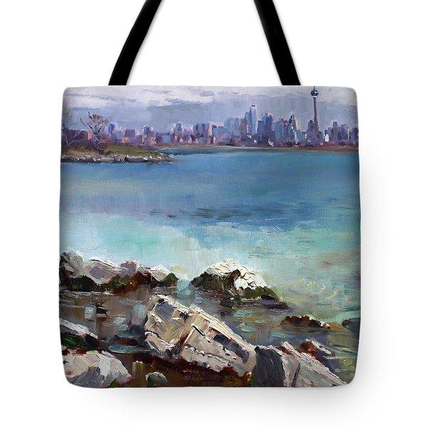 Rocks N' The City Tote Bag